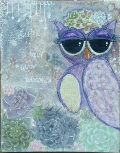 Sassy Wise Owl - wm