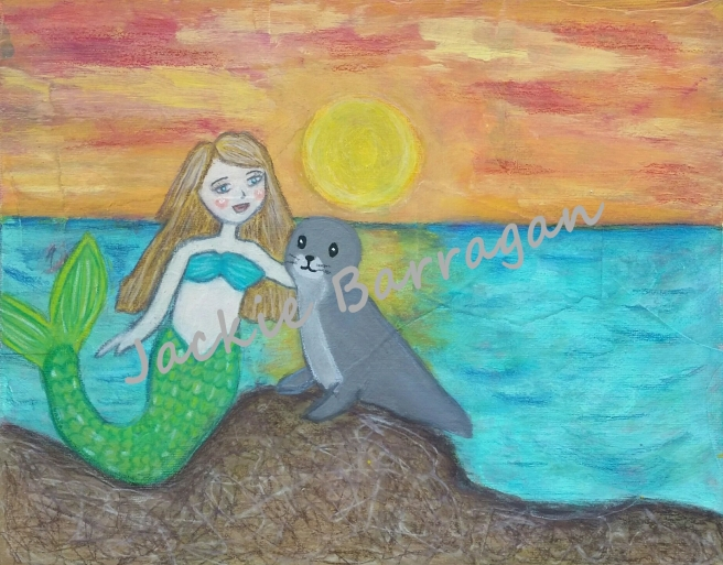 Mermaid & Seal - watermark